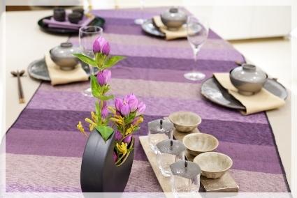 カラーで演出するテーブル・パープル♪ ~ブラッシュアップクラス_d0217944_11163953.jpg