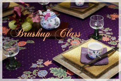 カラーで演出するテーブル・パープル♪ ~ブラッシュアップクラス_d0217944_11172791.jpg