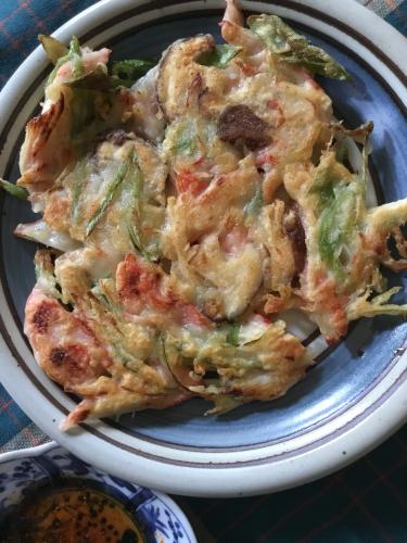 思い立って作るチヂミ、韓流バラエティ「ユン食堂」