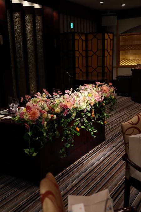 秋の装花 目黒雅叙園孔雀の間さまへ 理想のすべての花を咲かせて_a0042928_2181759.jpg