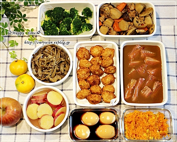 キャベツの肉巻き弁当と今週の作りおき♪_f0348032_18084876.jpg