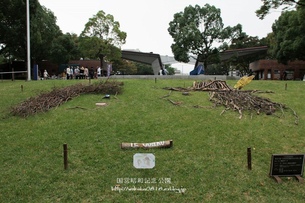 昭和記念公園に木を使ったオブジェが(^^♪_e0052135_17590083.jpg
