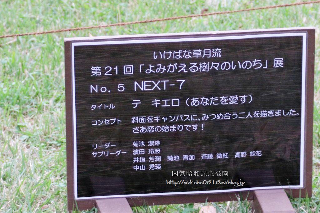 昭和記念公園に木を使ったオブジェが(^^♪_e0052135_17590482.jpg