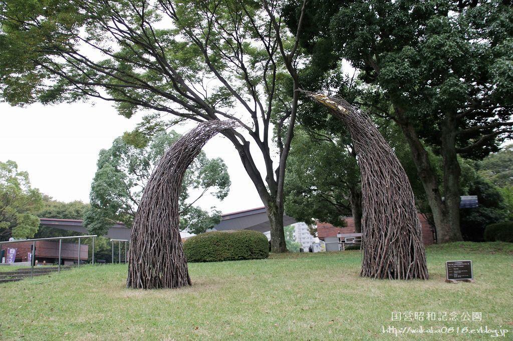 昭和記念公園に木を使ったオブジェが(^^♪_e0052135_17592562.jpg