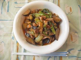 椎茸とナスの豆板醤炒め_c0216937_9283142.jpg