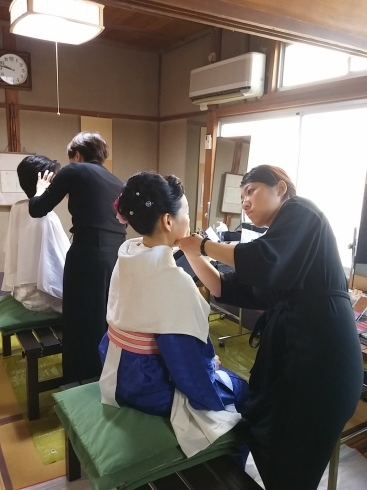 着物姿で能楽堂を舞台にhairmake撮影_d0241780_18532369.jpg