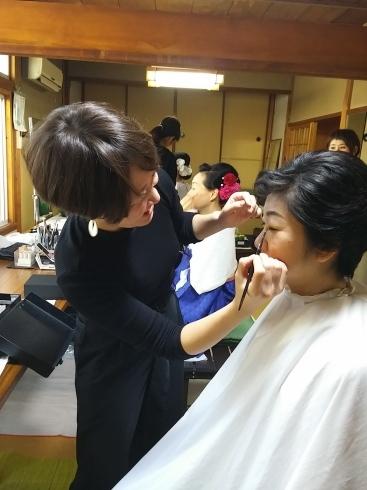 着物姿で能楽堂を舞台にhairmake撮影_d0241780_18543093.jpg