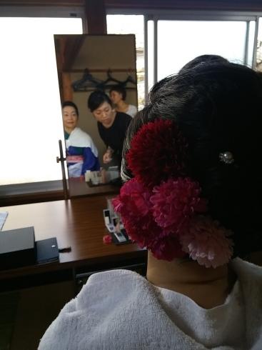 着物姿で能楽堂を舞台にhairmake撮影_d0241780_18550352.jpg