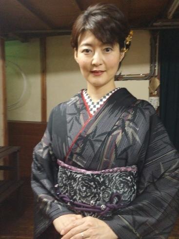 着物姿で能楽堂を舞台にhairmake撮影_d0241780_19034033.jpg