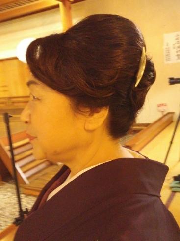着物姿で能楽堂を舞台にhairmake撮影_d0241780_19065955.jpg