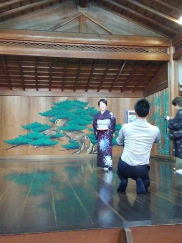 着物姿で能楽堂を舞台にhairmake撮影_d0241780_19080232.jpg
