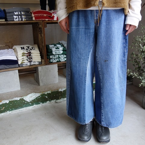 MADE by sunny side up : remake denim baggy pants_a0234452_18285091.jpg