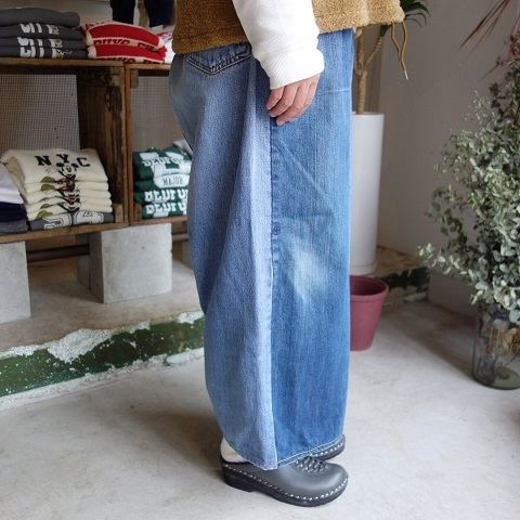 MADE by sunny side up : remake denim baggy pants_a0234452_18290014.jpg