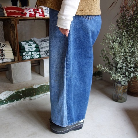 MADE by sunny side up : remake denim baggy pants_a0234452_18290394.jpg