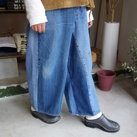 MADE by sunny side up : remake denim baggy pants_a0234452_18290720.jpg