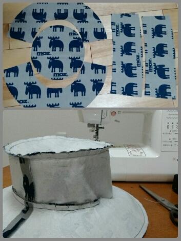 MOZとマリメッコで冬模様の帽子を作る - ピースケさんのお留守ばん