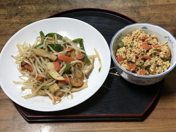 野菜炒め&炒り豆腐_f0350959_20503431.jpg