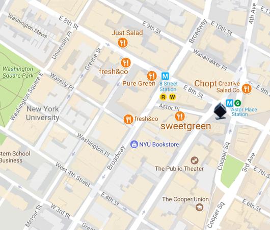 マンハッタンのAstor Pl.から8th St.周辺はサラダ専門店密集地_b0007805_18424755.jpg
