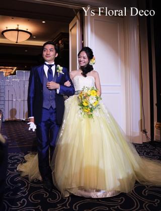 ふんわり黄色のドレスにあわせるガーベラのブーケ_b0113510_13102687.jpg