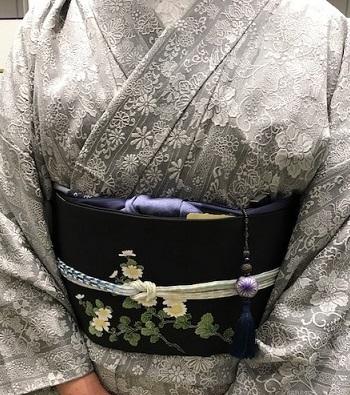 サローネ・しょうざん紬・大島紬・山岡古都に由水十久の帯_f0181251_1832842.jpg