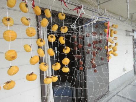 干し柿に漁網_a0203003_20125931.jpg