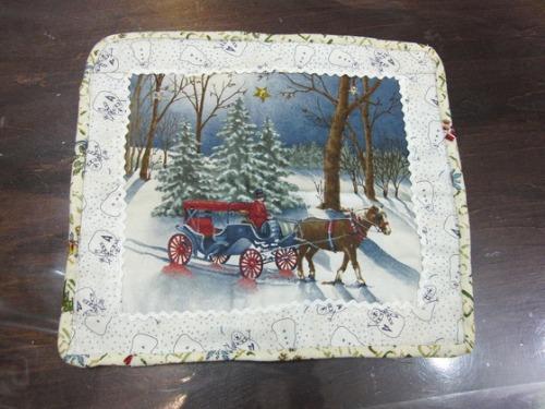 キルト教室 ~ クリスマスのタペストリー作品 ~ _e0222340_15533235.jpg