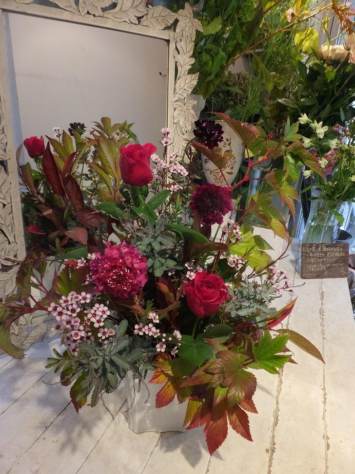 オークリーフ花の教室(赤地さんと宮原さんの作品)_f0049672_17540726.jpg