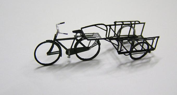 リヤカーと自転車のペーパーキット その2_e0137686_12122352.jpg