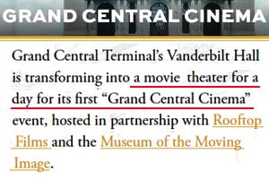 NYの超有名な映画ロケ地でその映画を観るイベント、第1回Grand Central Cinema開催_b0007805_0333850.jpg