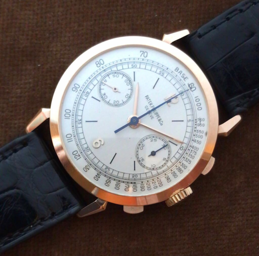 A fine and rare chronograph ref.1579R made in 1940's - PATEK PHILIPPE Blog by Luxurydays.