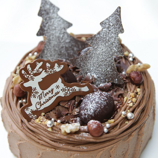 カフェのクリスマスケーキ_d0079577_18505076.jpg