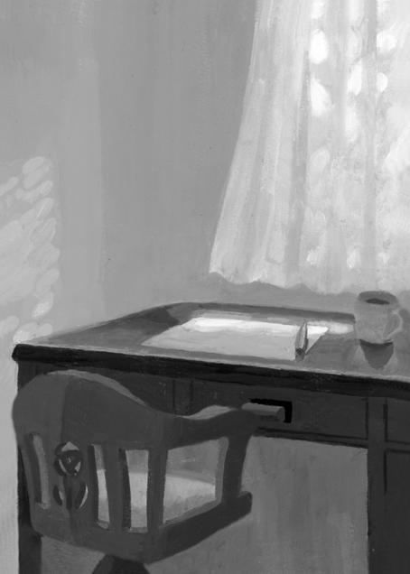 小説新潮 白石一文著「ひとりでパンを買いに行く日々に」第3回扉絵/小説誌挿絵_b0194880_09082310.jpg