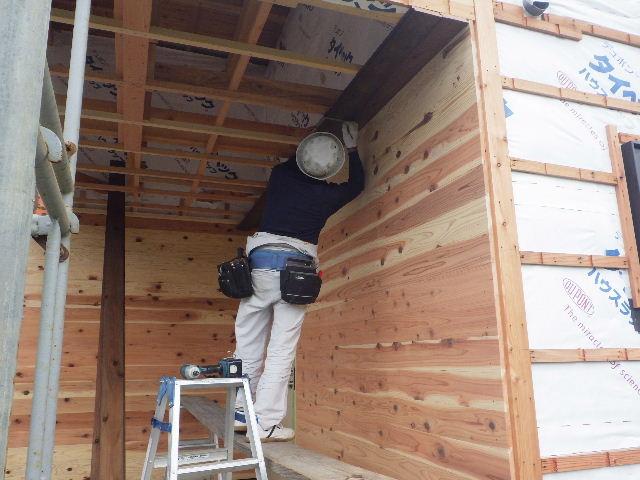 黒川の家 大工工事進行中。 _f0105112_4419100.jpg