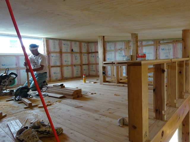 黒川の家 大工工事進行中。 _f0105112_447524.jpg