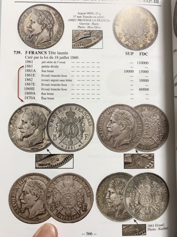 10月25日ナポレオン3世有冠5フランエセー⭐️発売⭐️_d0357629_09221813.jpg