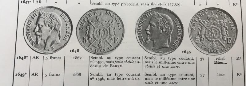 10月25日ナポレオン3世有冠5フランエセー⭐️発売⭐️_d0357629_09223023.jpg