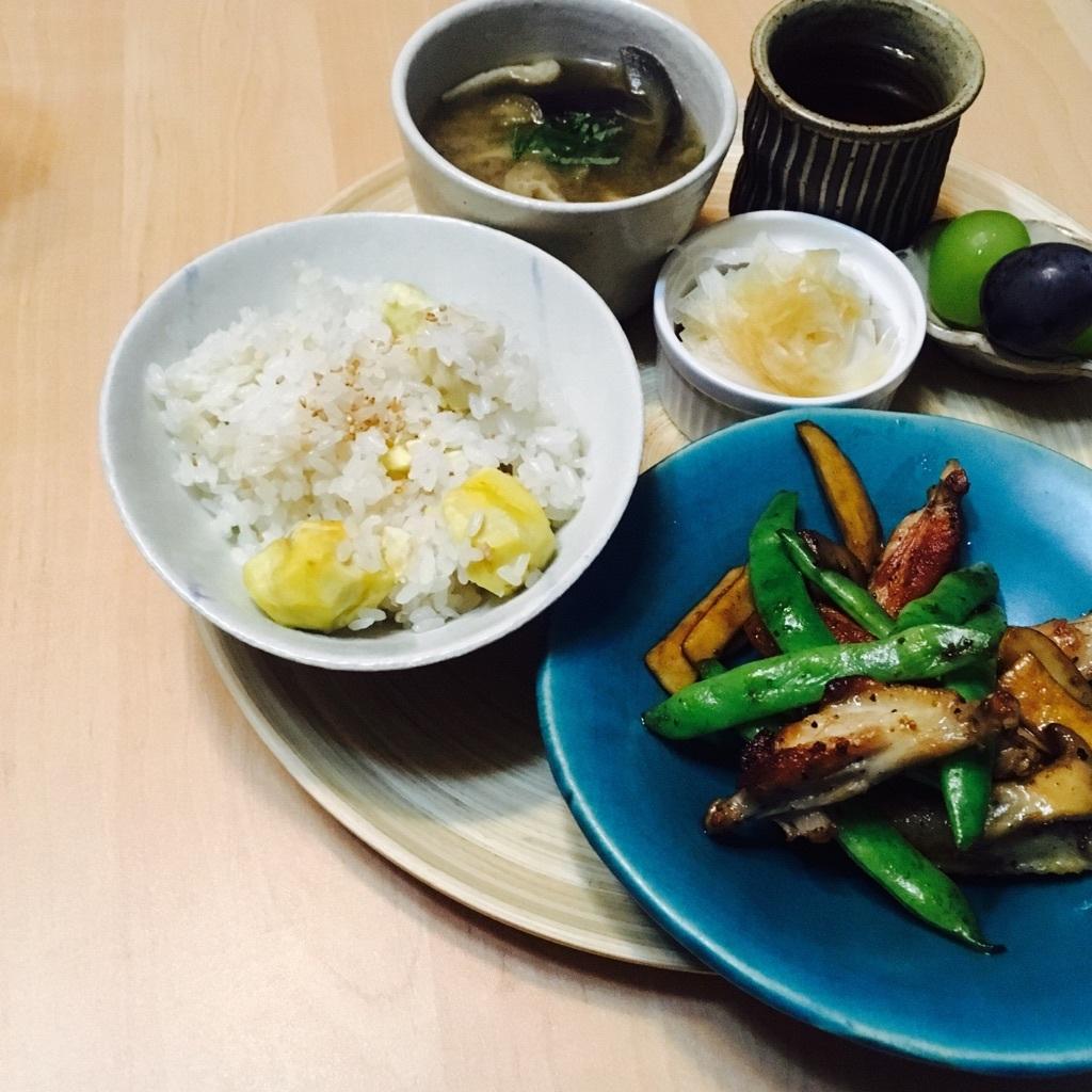 ごはん。Bamboo  Dish & Tray 、こんな風に毎日使ってます。_f0328051_18590186.jpg