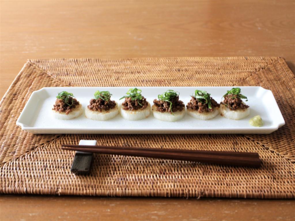 焼き長芋の肉味噌のせ_f0220354_13400370.jpg