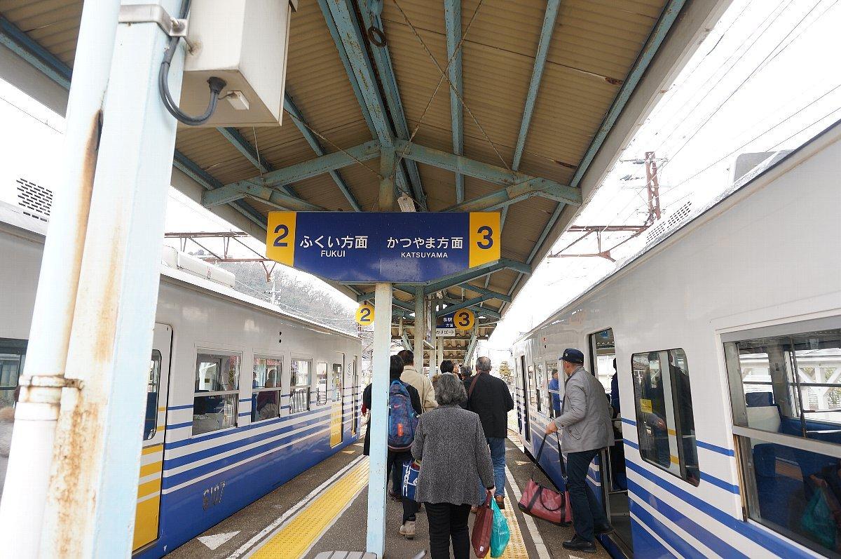 えちぜん鉄道で永平寺口駅へ_c0112559_08493439.jpg