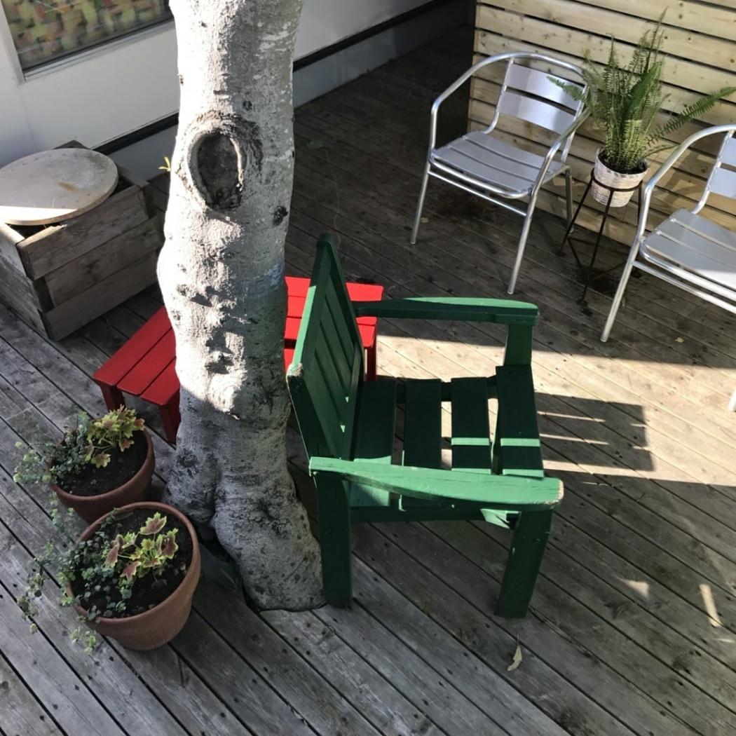 裏庭の椅子を塗る_f0218407_15042531.jpg