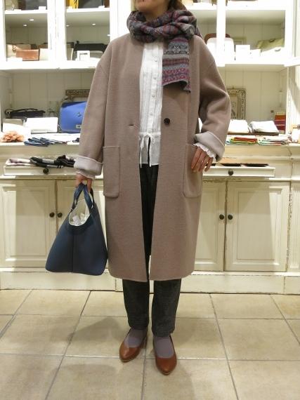 マリンフランセーズのダブルフェイスウールのコートです。_c0227633_13031514.jpg