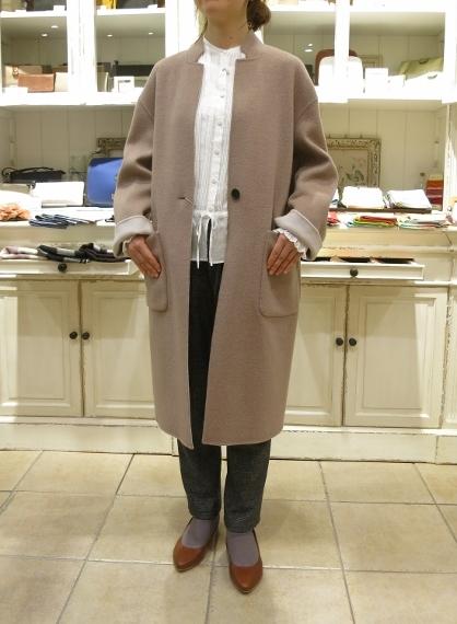 マリンフランセーズのダブルフェイスウールのコートです。_c0227633_13044029.jpg