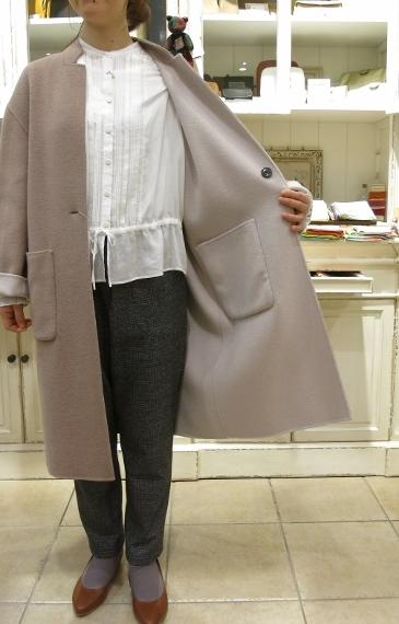 マリンフランセーズのダブルフェイスウールのコートです。_c0227633_13053255.jpg