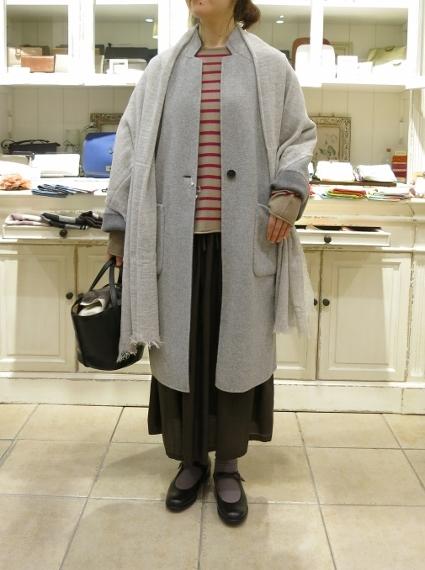 マリンフランセーズのダブルフェイスウールのコートです。_c0227633_13072219.jpg