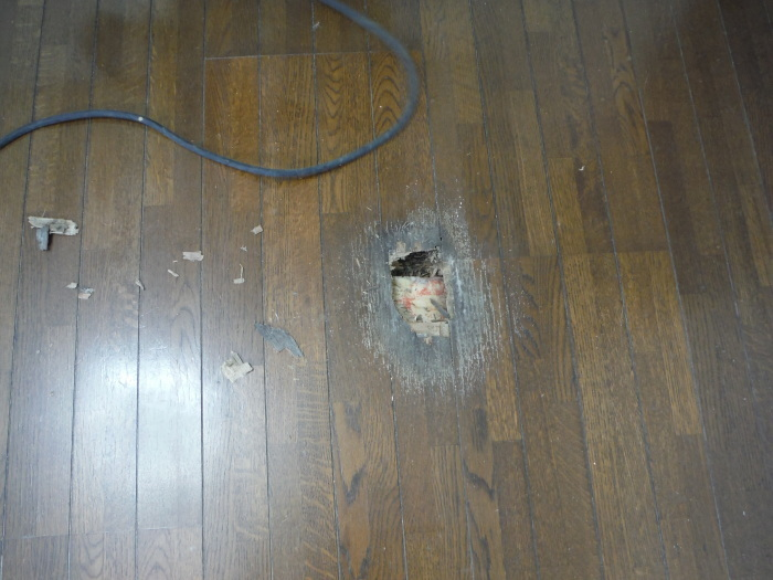 リビング床工事 ~ シロアリ被害が見つかりました。_d0165368_07045338.jpg