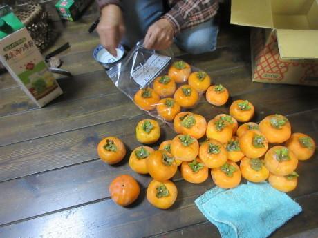 柿の渋抜き_a0203003_20000363.jpg