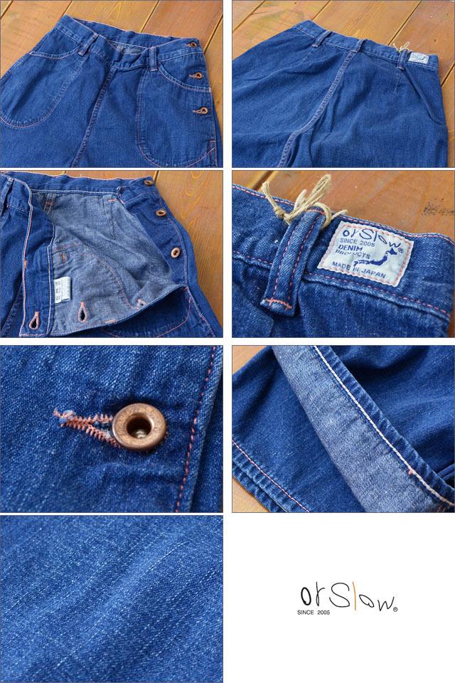 orslow [オアスロウ] DENIM RANCH PANTS USED / デニムランチパンツ [00-5003-95] デニムパンツ サイドボタンデニム LADY\'S_f0051306_18275753.jpg
