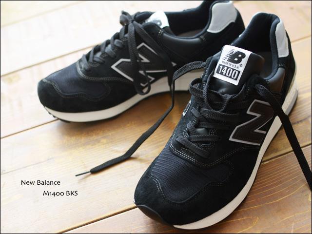 New Balance[ニューバランス] MADE IN USA M1400BKS レザー1400 BLACK/ブラック [Leather] MEN\'S/LADY\'S_f0051306_18315865.jpg