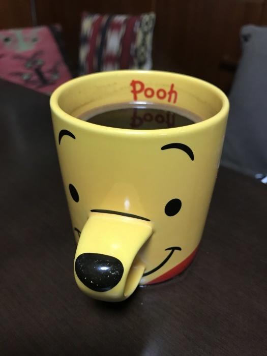 休みの今朝はプーさんのコーヒーから始まって!!!_c0110051_22364108.jpg