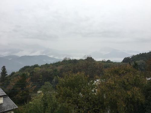 台風💨が近づいてきます。でも微かに山⛰が見えてます。_d0338282_15465098.jpg